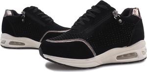 Czarne buty sportowe Gemre z płaską podeszwą