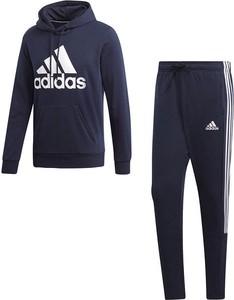 Niebieski dres Adidas z dresówki