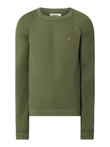 Zielony sweter Napapijri z bawełny