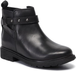 Czarne buty dziecięce zimowe Clarks na zamek