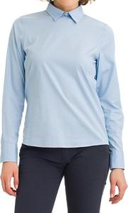 Błękitna bluzka Galvanni z długim rękawem w stylu casual