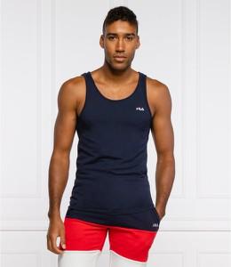 Niebieski t-shirt Fila w sportowym stylu z krótkim rękawem