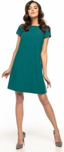 Sukienka Tessita z tkaniny z okrągłym dekoltem z krótkim rękawem