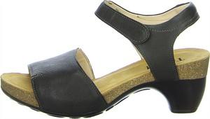 Czarne sandały Think! z klamrami ze skóry