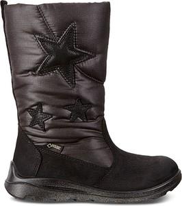 Buty dziecięce zimowe Ecco ze skóry na zamek
