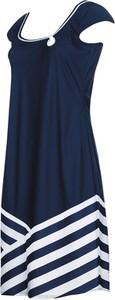 Niebieska sukienka Sunflair z dekoltem w kształcie litery v