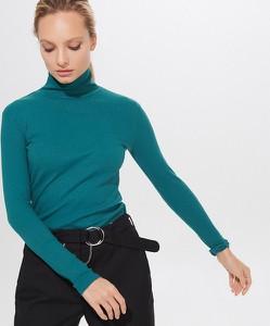 Turkusowa bluzka Mohito w stylu casual