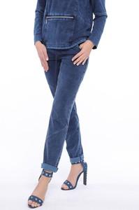 Niebieskie spodnie sportowe Top-Bis z bawełny