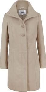 Brązowy płaszcz bonprix z wełny w stylu casual