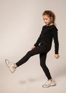 Czarny dres dziecięcy All For Kids z dzianiny