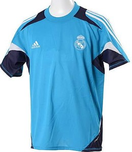 Niebieska koszulka dziecięca Adidas Performance z dżerseju