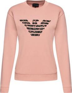 Różowa bluza Emporio Armani w stylu casual krótka