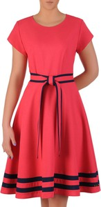 85c14a02f6b8d7 malinowa sukienka rozkloszowana. - stylowo i modnie z Allani