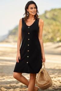 Czarna sukienka Cellbes w stylu casual bez rękawów szmizjerka