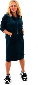 Czarna sukienka Roxana - sukienki w stylu casual z golfem