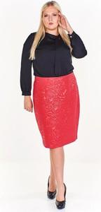 Czerwona spódnica Fokus z szyfonu