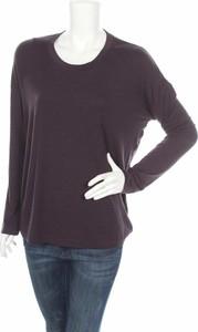 Fioletowa bluzka Onzie w stylu casual z okrągłym dekoltem z długim rękawem