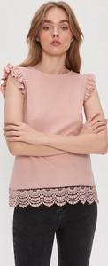 Różowa bluzka House z okrągłym dekoltem