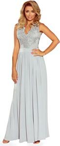 Sukienka 4myself.pl wyszczuplająca z dekoltem w kształcie litery v maxi