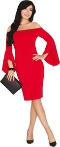 Sukienka MERRIBEL z długim rękawem ołówkowa midi