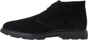 Buty zimowe Hogan w stylu casual sznurowane ze skóry