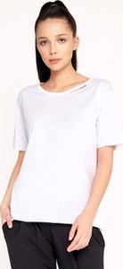 T-shirt Byinsomnia z okrągłym dekoltem w stylu casual z bawełny