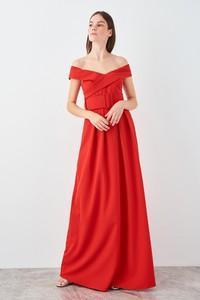 Sukienka Trendyol maxi z krótkim rękawem