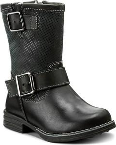 Szare buty dziecięce zimowe renbut ze skóry