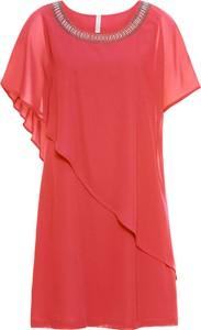 Czerwona sukienka bonprix BODYFLIRT boutique z tkaniny