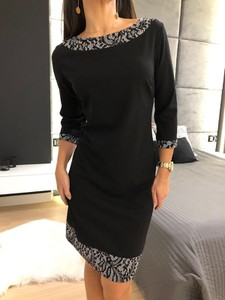 Czarna sukienka ModnaKiecka.pl prosta mini