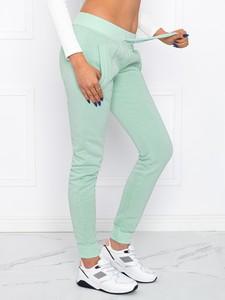 Zielone spodnie sportowe Edoti z dresówki