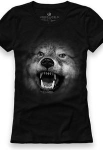 Czarny t-shirt Underworld w młodzieżowym stylu