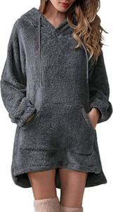 Sukienka Cikelly w stylu casual z polaru z długim rękawem