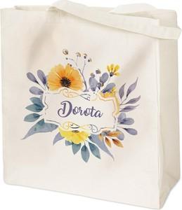 Murrano bawełniana eko torba z nadrukiem kwiaty tr010