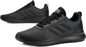 Granatowe buty sportowe Adidas w sportowym stylu sznurowane