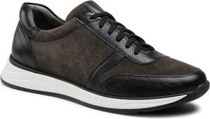 Buty sportowe Ryłko sznurowane ze skóry