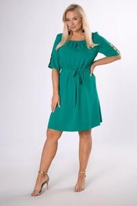 Sukienka Ptakmoda.com z okrągłym dekoltem z krótkim rękawem