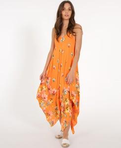 Sukienka Unisono z dekoltem w kształcie litery v na ramiączkach