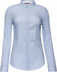 Koszula Tommy Jeans z kołnierzykiem z długim rękawem