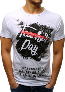 T-shirt Dstreet w młodzieżowym stylu z bawełny z krótkim rękawem