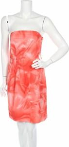 Pomarańczowa sukienka Hugo Boss bez rękawów mini