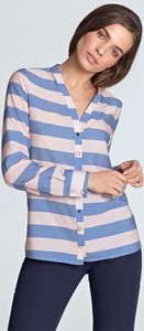 Bluzka Merg w stylu casual z długim rękawem bez kołnierzyka