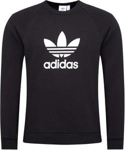 Czarna bluza Adidas w sportowym stylu z bawełny