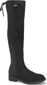 Czarne kozaki Pepe Jeans w stylu casual za kolano