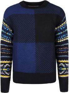 Niebieski sweter Tommy Hilfiger w młodzieżowym stylu