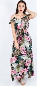 Sukienka Olika prosta z krótkim rękawem
