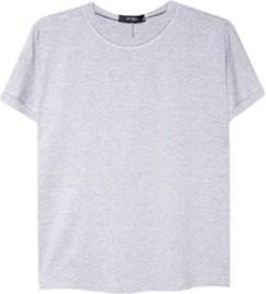 T-shirt ECHO w stylu casual z dzianiny z krótkim rękawem