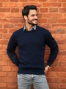 Sweter M. Lasota ze stójką z bawełny w stylu casual