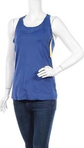 Niebieska bluzka Lolë z okrągłym dekoltem