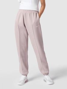 Fioletowe spodnie Nike z dresówki